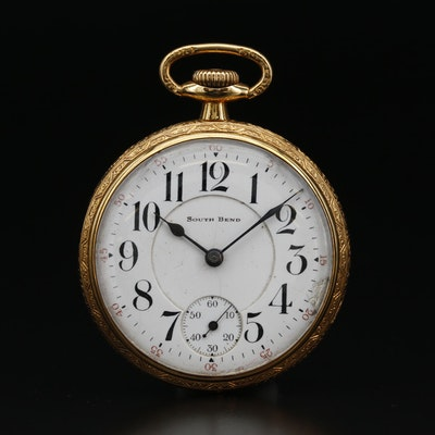 1916 South Bend Gold Filled Pocket Watch