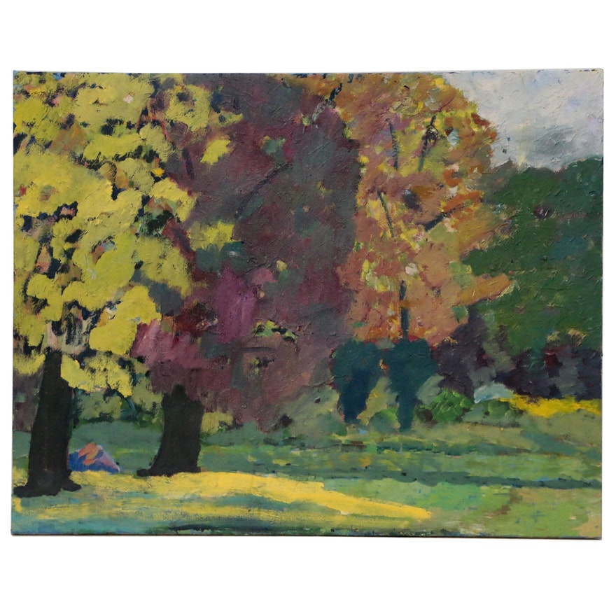 Jerald Mironov Monumental Abstract Landscape Oil Painting