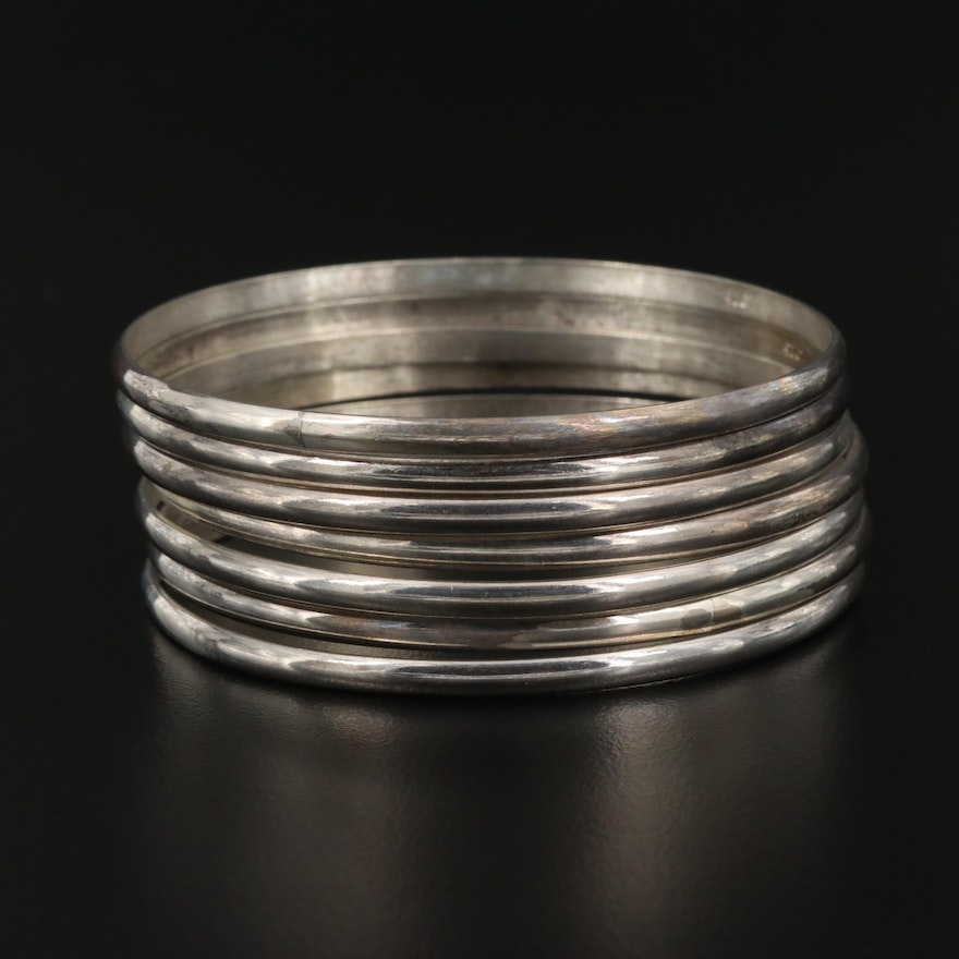 Sterling Silver Stackable Bangle Bracelets