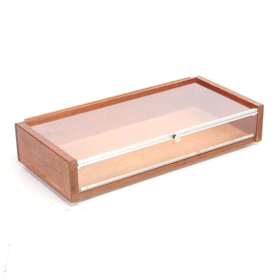 Handcrafted Plexiglass and Oak Display Case
