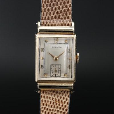 "14K Hamilton ""Barton"" Stem Wind Wristwatch, Circa 1949"