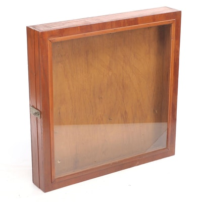 Handcrafted Wood and Glass Front Display Case