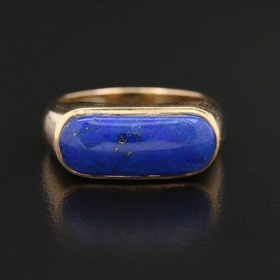 14K Lapis Lazuli Saddle Ring