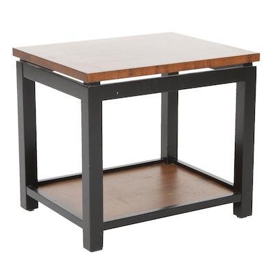 "Nichols & Stone | Departures ""Wellesley"" Walnut and Parcel-Ebonized Side Table"