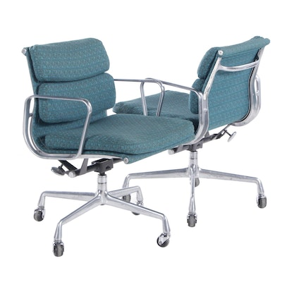 Pair of Charles and Ray Eames for Herman Miller Aluminum Group Desk Chairs