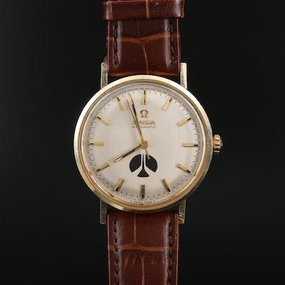1969 Omega 14K Gold Filled Rockwell Award Wristwatch