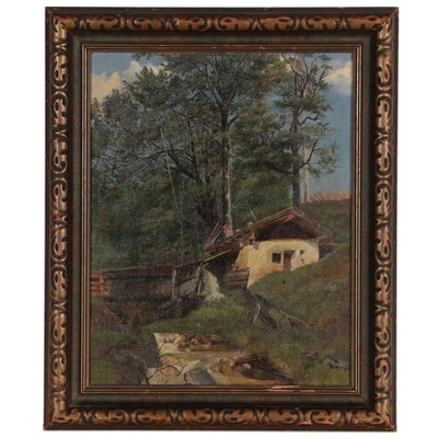 Oil Painting Attributed to Karl Schoch, Late 19th Century