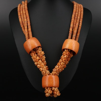 Tagula Nut Beaded Necklace