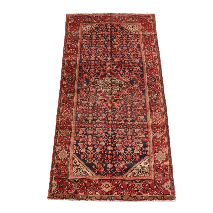 5'0 x 10'1 Hand-Knotted Persian Gogarjin Wool Rug