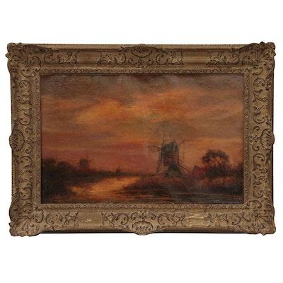 Willem Frederik Boekstal Dutch Landscape Oil Painting, Early 20th Century