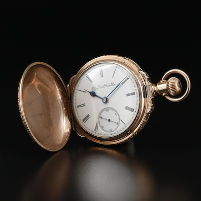 1891 Elgin Box Hinged Gold Filled Pocket Watch