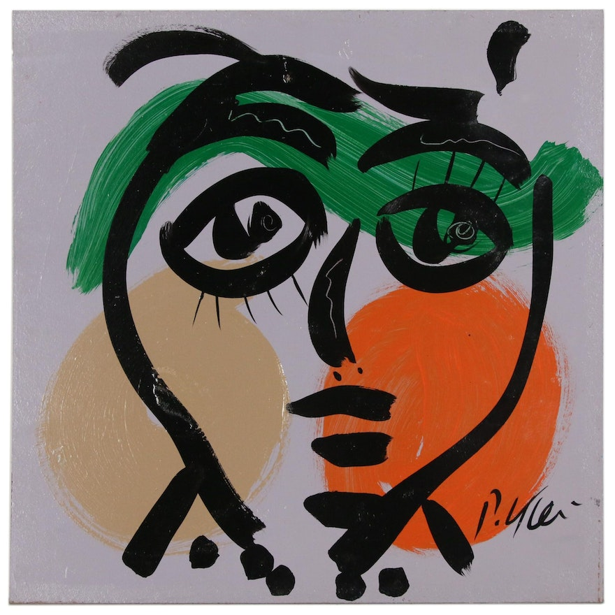 Peter Keil Abstract Acrylic Portrait Painting