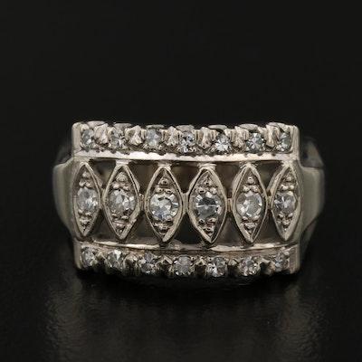 14K Diamond Openwork Ring