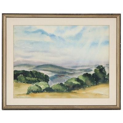 Katherine Dorn Cass Landscape Watercolor Painting