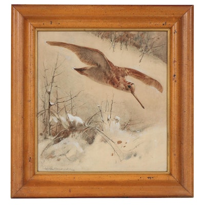 """George E. Studdy Illustration """"Running to Ground"""", Early 20th Century"""