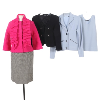 Carlisle Cropped Coat, Cardigan, Sweater Set and Skirt
