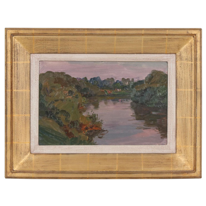 Dusk Landscape Oil Painting