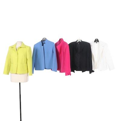 Louben Textured Blazers in Various Colors