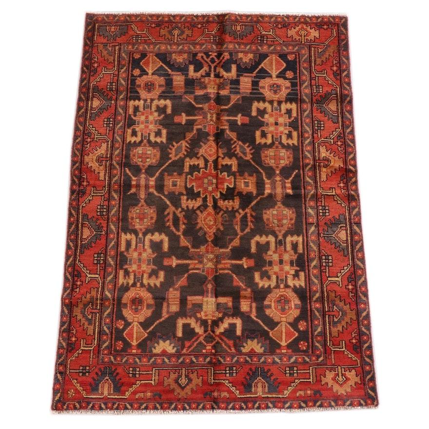 4'4 x 6'8 Hand-Knotted Persian Kolyai Wool Rug