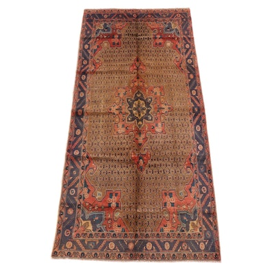 5'0 x 10'8 Hand-Knotted Persian Malayer Wool Long Rug