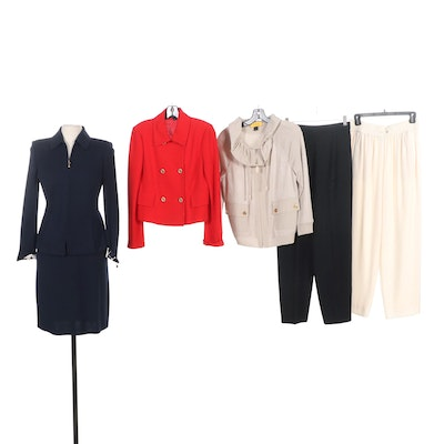 St. John Brand Skirt Suit, Jackets and Pant Separates
