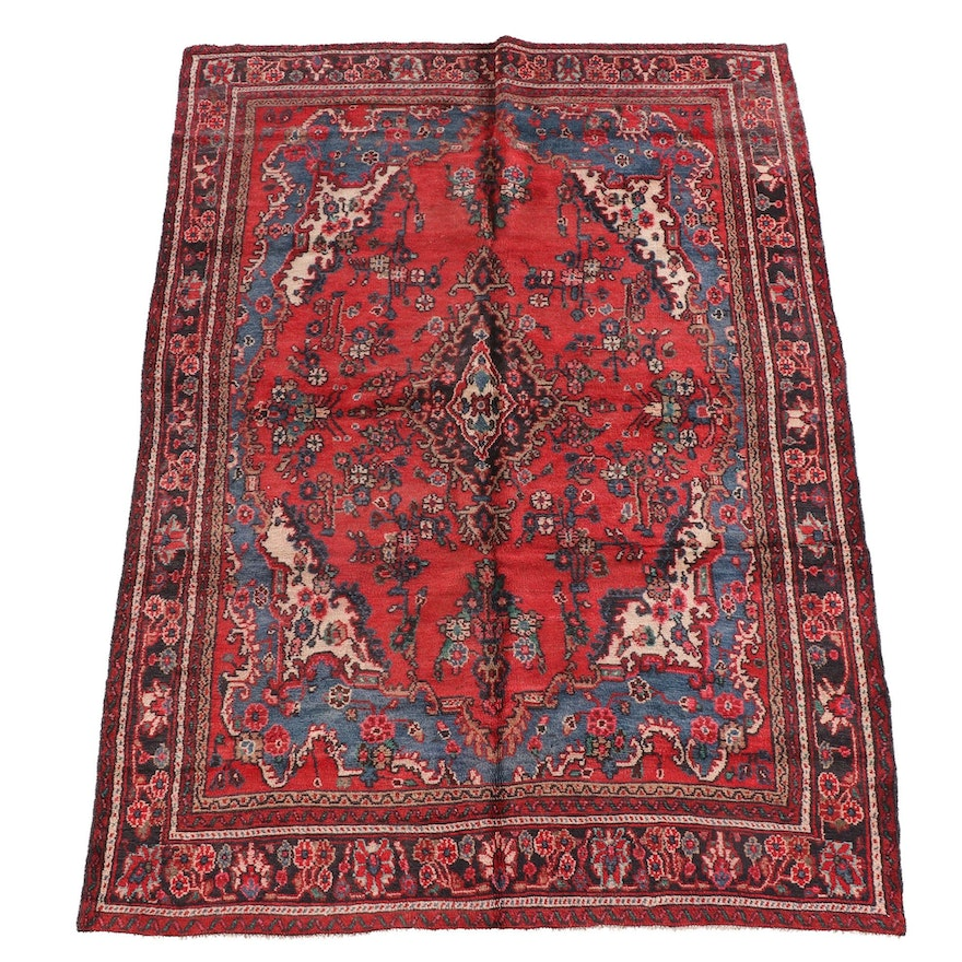 6'9 x 9'11 Hand-Knotted Persian Kashan Wool Rug