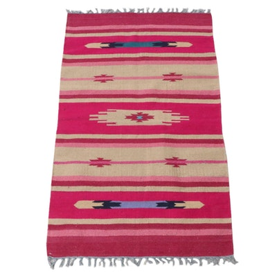3'2 x 5'4 Handwoven Indo-Turkish Kilim Rug, 2000s