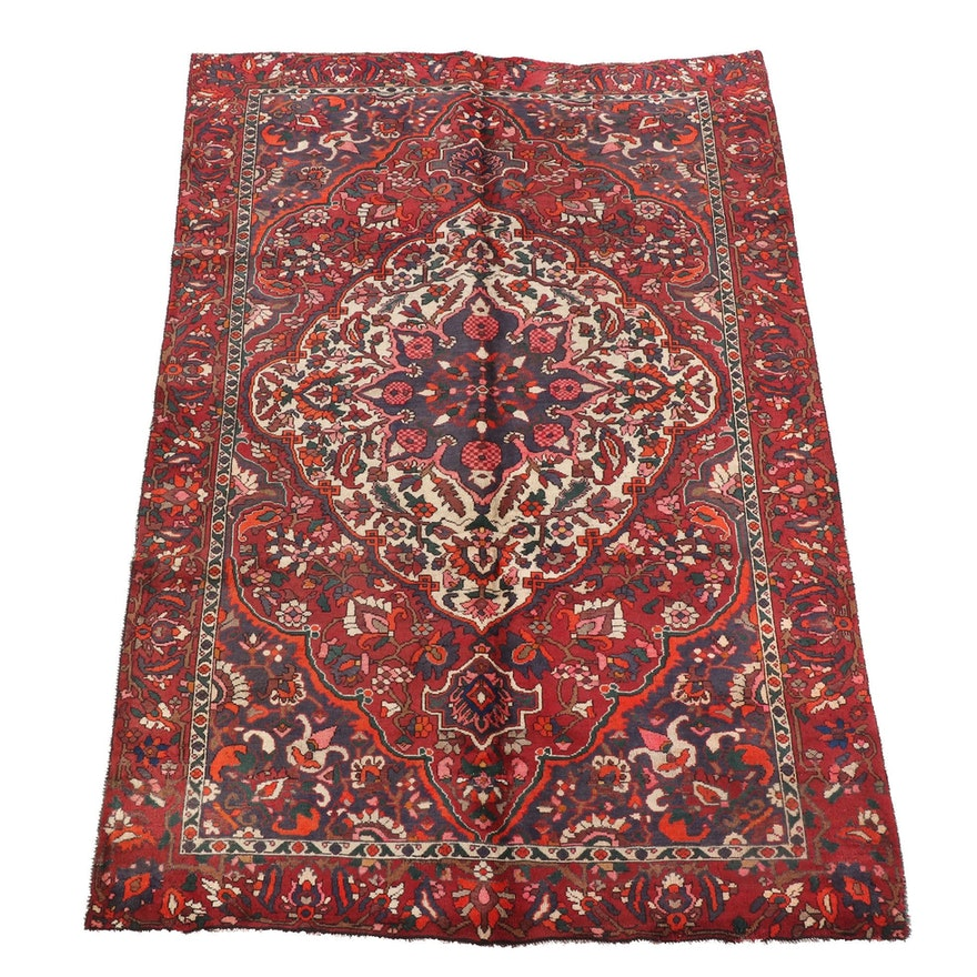 6'3 x 10'1 Hand-Knotted Persian Afshar Wool Rug