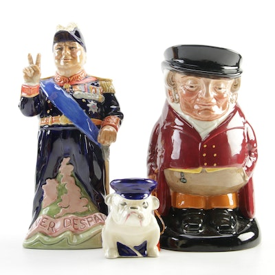 "Royal Doulton ""The Huntsman"" and Other Ceramic Character Jugs"