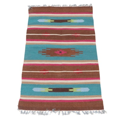 3'2 x 5'5 Handwoven Indo-Turkish Kilim Rug, 2000s