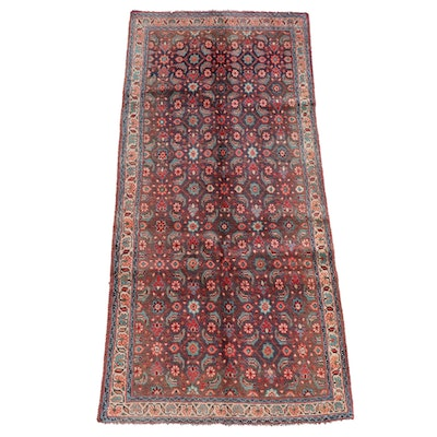 3'11 x 8'6 Hand-Knotted Persian Hamadan Wool Long Rug