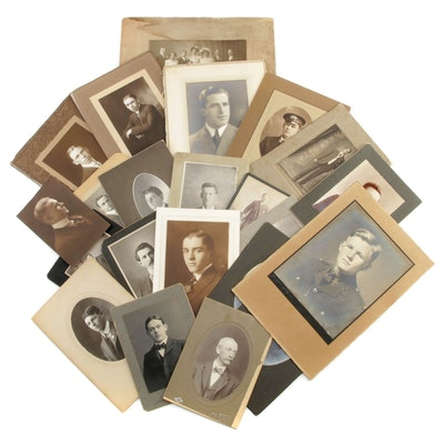 Formal Male Portrait Silver Gelatin and Albumen Photographs