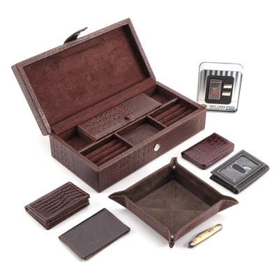 Fossil Cuff Links and Money Clip with Assorted Wallets and Vanity Trays