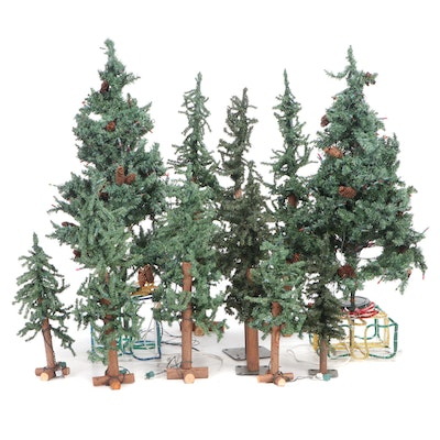 Frontgate Artificial Pre-Lit Christmas Trees with Other Christmas Decor