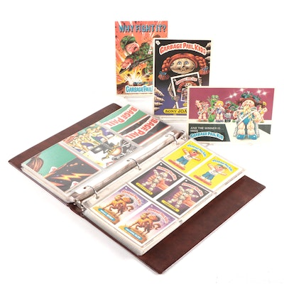 "1985/1986 ""Garbage Pail Kids"" Topps Stickers and Oversized Cards in Vinyl Binder"