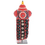 Tibetan Style Beaded Headdress with Stand, Late 20th to 21st Century