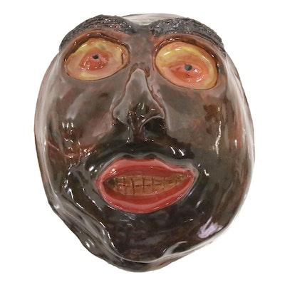 Hand-Sculpted Ceramic Face