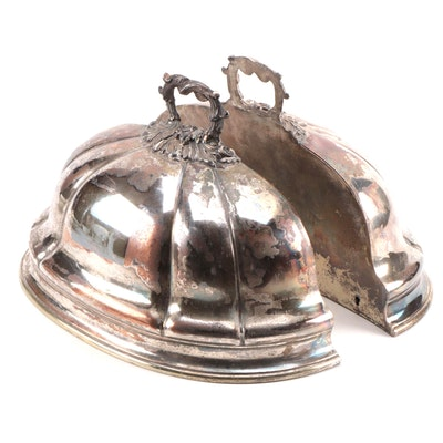 Silver Plate over Copper Meat Dome Wall Pockets