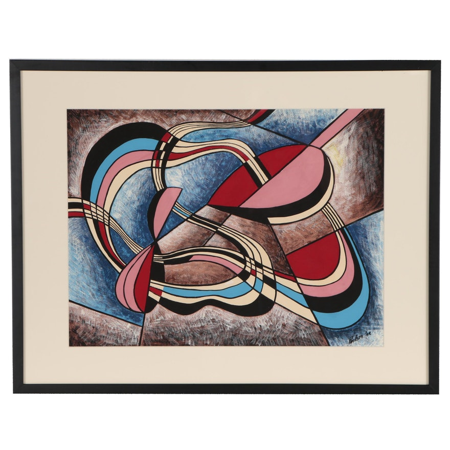 Abstract Gouache Painting, 1948