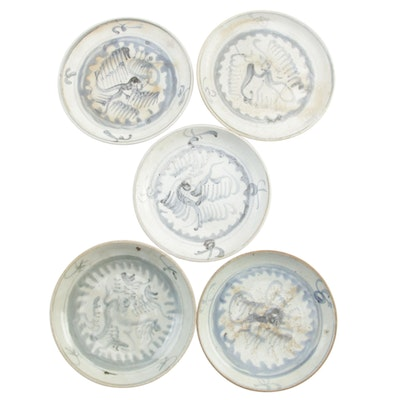 Chinese Swatow Stoneware Dinnerware, Late 19th Early 20th Century