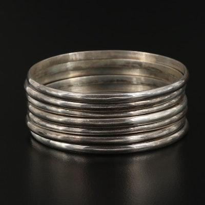Sterling Stackable Bangle Bracelets