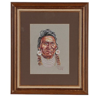 Pastel Portrait Drawing of Chief Joseph
