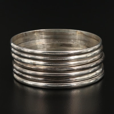 Sterling Stackable Bangle Bracelets