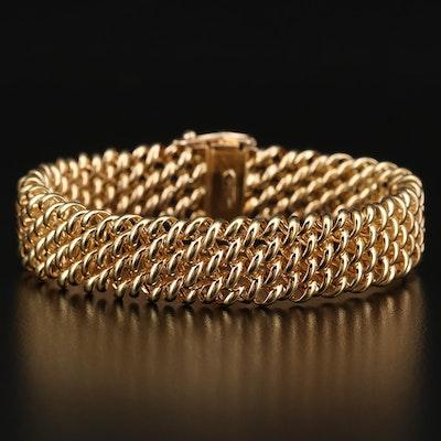 18K Woven Mesh Bracelet