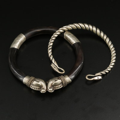 Double Headed Makara Bracelets Featuring Horn