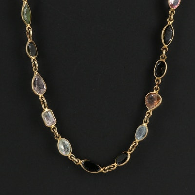 Sterling Silver Tourmaline Necklace