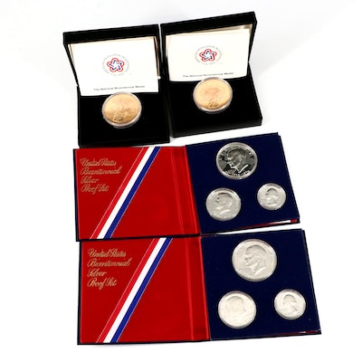 US Mint Bicentennial Silver Proof Sets and Bicentennial Medals