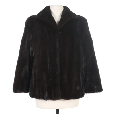 Dark Brown Mink Fur Jacket from Sincerely Gidding Jenny, Vintage
