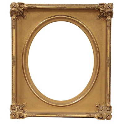 Late Victorian Frame With Elaborate Gesso Cartouches