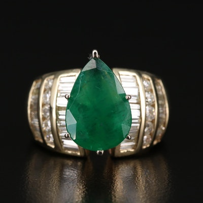 14K Emerald and 1.83 CTW Diamond Ring